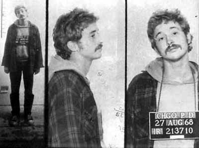 Bill Ayers, as pictured during his involvment in the radical Underground Weather Society, August 1968. Courtesy of the Chicago Historical Society