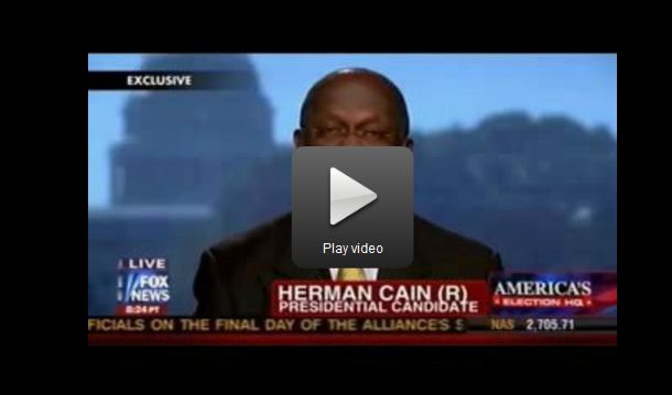 Herman Cain on Fox News