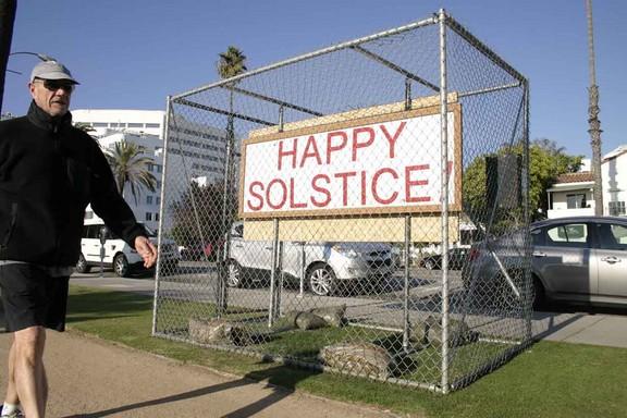 Atheist Sign in Santa Monica Palisades Park