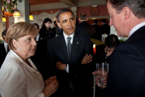 Angela Merkel Barack Obama SC