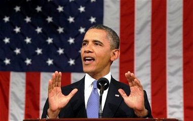 Barack Obama American flag SC