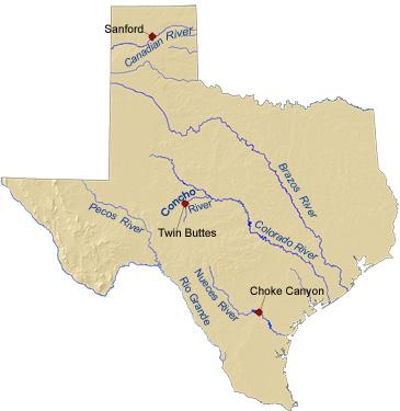 Texas map SC