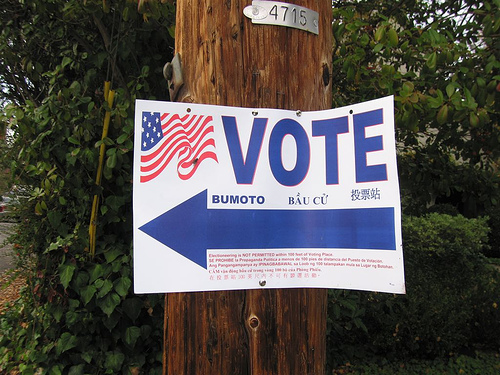 Voting Sign SC