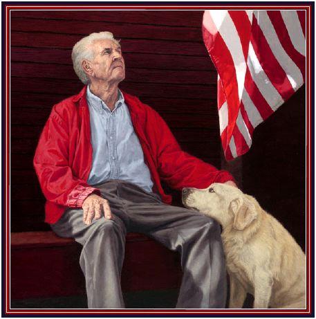 Man Flag Dog