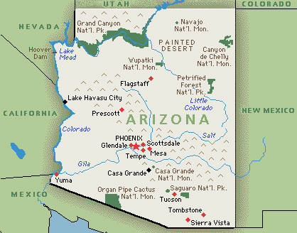 arizona map SC