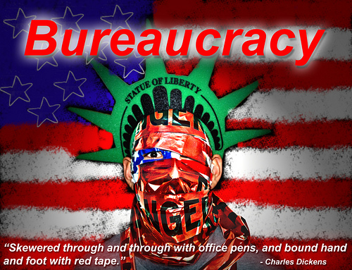 Bureacracy statue of liberty