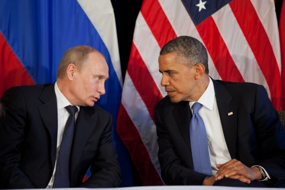 Vladimir Putin and Barack Obama SC