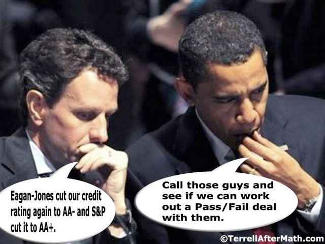 Obama Geithner Credit Downgrade Deal SC