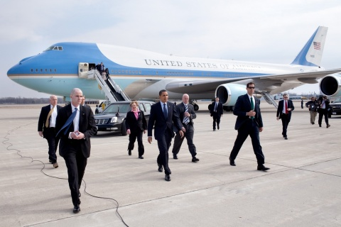 President with Secret Service Detail SC