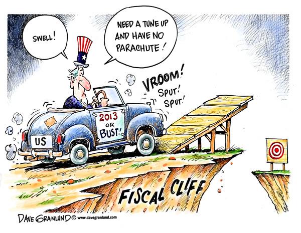 Fiscal Cliff cartoon