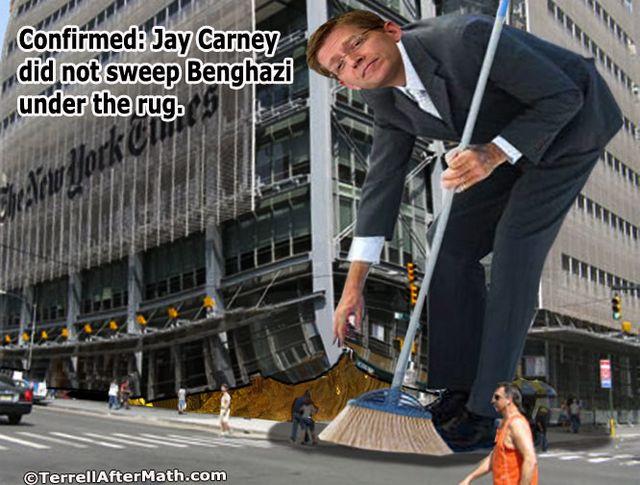 Carney Sweeps Benghazi Under Rug SC
