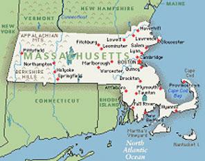 Massachusetts map SC