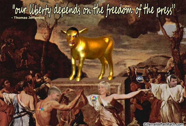 Obama Golden Calf Liberal Media SC