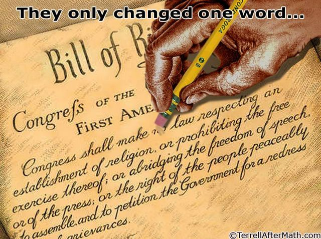 Bill Of Rights One Word Change SC