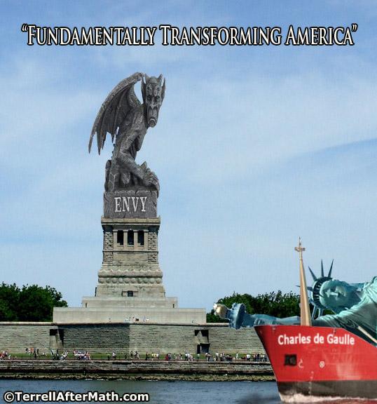Statue of Envy Fundamentally Transforming America Obama SC