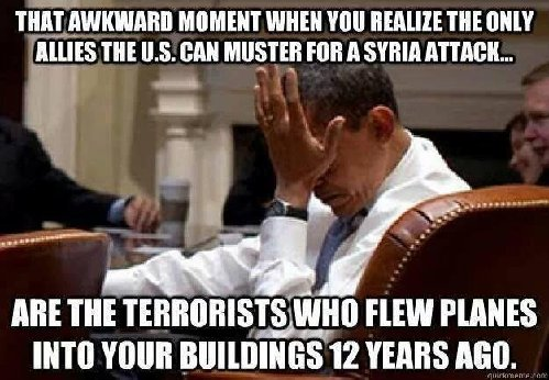 Obama Awkward Moment Terrorists Syria Al Qaeda