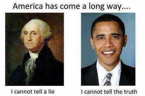 George Washington Obama America Lie Truth SC