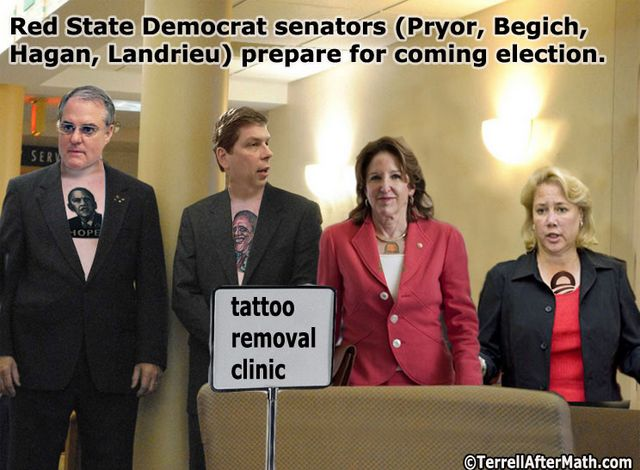 Obama Democrat Senators Tattoo SC