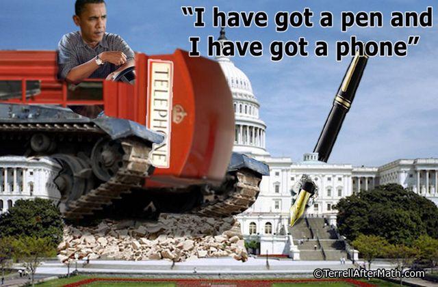 Obama Pen Phone Tank SOTU SC