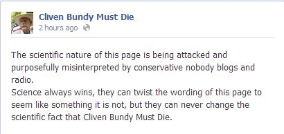 Facebook/Cliven Bundy Must Die