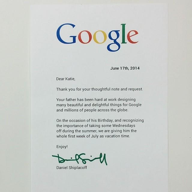 Google Letter Response