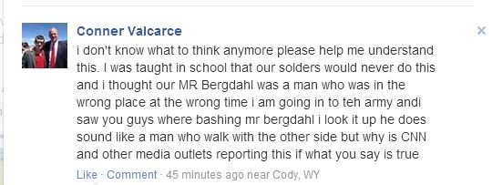 Facebook/Bowe Bergdahl is a Traitor