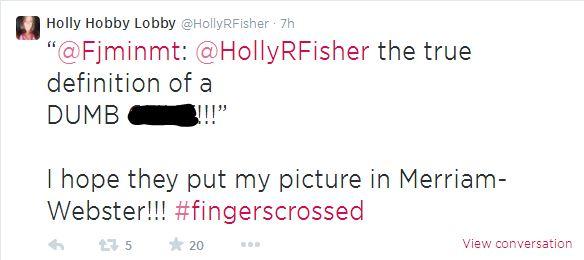Twitter/HollyRFisher