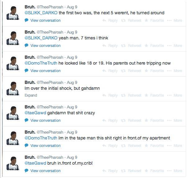 Michael Brown Eyewitness Twitter 5
