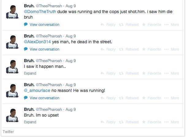 Michael Brown Eyewitness Twitter 6