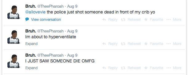 Michael Brown Eyewitness Twitter 7