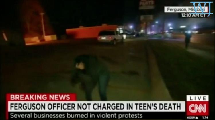 Reporter hit in head