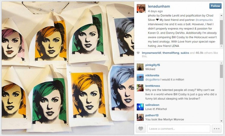 Photo: Lena Dunham/Instagram