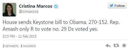 02112015_Keystone Cristina Marcos Amash Votes No_Twitter