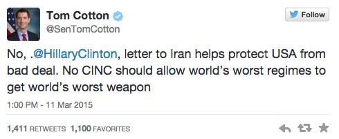 Twitter/ Tom Cotton