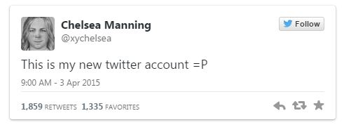04062015_Chelsea Manning New Twitter Account_Twitter