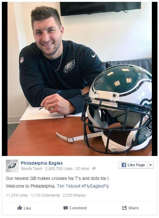 04202015_Tebow Signs With Eagles_Facebook