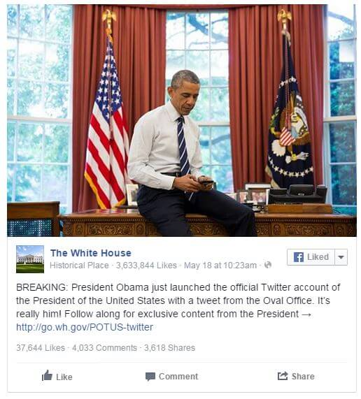 Facebook/The White House