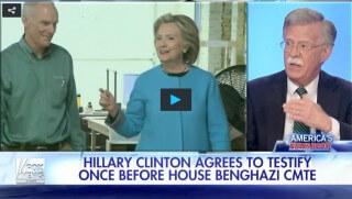 John Bolton, Hillary Clinton