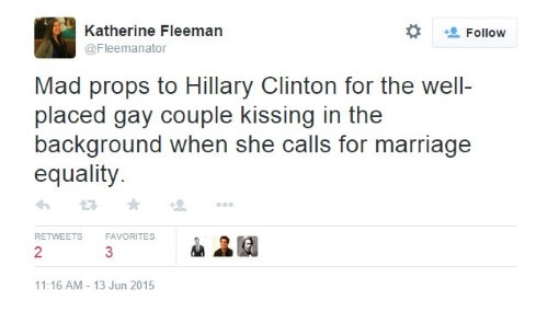 Hillary Clinton Tweet Gay Marriage II