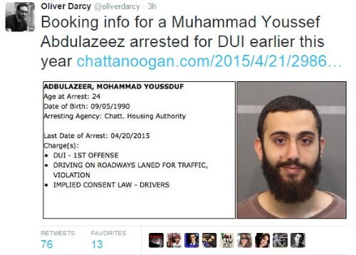 Chattanooga Shooter DUI