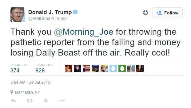Donald Trump Tweet Daily Beast