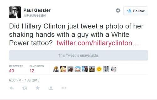 Twitter - Hillary Clinton - Paul Gessler