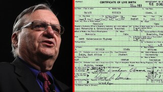 WJ images Arpaio on birth certificate