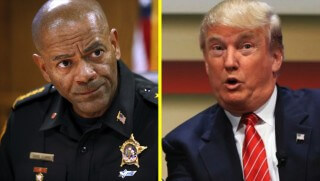 WJ images Sheriff Clarke on Trump