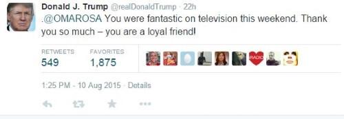 Donald Trump Twitter Omarosa