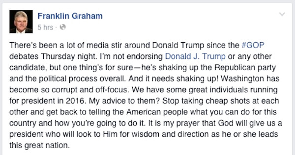 Image Credit: Facebook/Franklin Graham