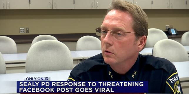 Image credit: KTRK-TV Sealy, Texas, Police Chief Chris Noble.
