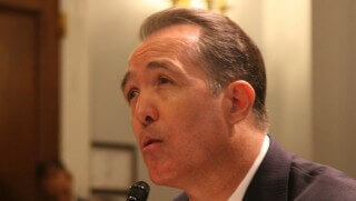 Rep. Trent Franks, R-Glendale, tells a House committee that a Glendale casino proposed by the Tohono O'odham Nation could destroy a compact signed by the state and all 17 Arizona tribes in 2002. Franks sponsored a bill that would stop gaming on Tohono O'odham land in metro Phoenix.