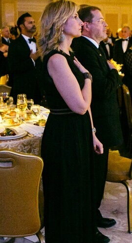 Alrayyes (front), Norquist at her side and Suhail Khan (back left) at 2013 ATFP gala.