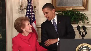 Obama and nancy reagan